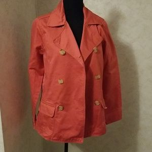 Gorgeous coral light weight jacket.